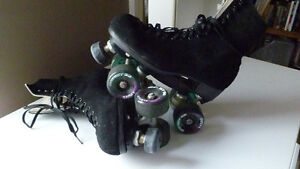 Outdoor roller skates & protective equipment