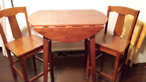 3pc pub table and chairs