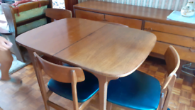 REDUCED!!! Nathan retro dining table and chairs