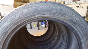 3x 265/50R20 low profile tire