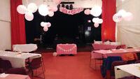 Salle de réception à louer (événements, fêtes, vernissage, etc)