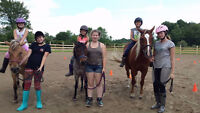 Summer Kids Horse Camp July 3rd-7th Youth 6-9 years