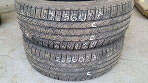 Pair of 2 Goodyear Assurance 225/60R17 tires (60% tread life)