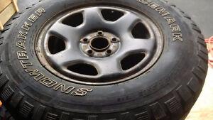 "set 16"" winter tires and rims St. John's Newfoundland image 1"