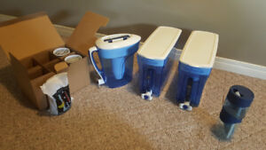 Zero water pitchers, dispensers, filters, portable tumbler,