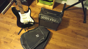 Guitar amp and case combo
