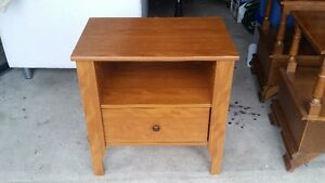 1 wood end table