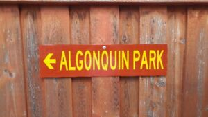 Provincial Park Sign Algonquin Park (Real)