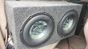 """2 10"""" subs in a box  1200watts"""