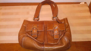 Authentic Vintage Real Brown Leather COACH Purse(model # inside)