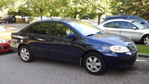 Selling 2003 Toyota Corolla very good condition.