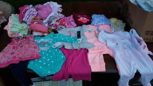Girls size 3-6 months clothes