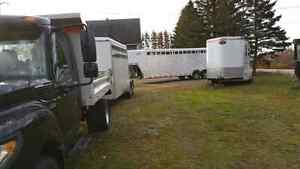 Trailering services, primary but not limited to horses