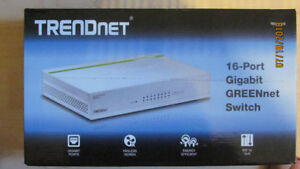 Trednet 16-Port Gigabit GREENnet Switch