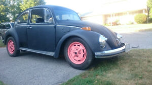 1973 vw beetle on airride with performance engine