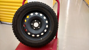 4 Studded Tires on Rims for Kia Soul