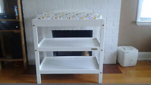 Crib mattress/access.  Change Table White....gently used.