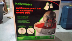 Halloween party punch bowl fountain