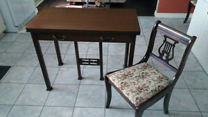 Goliath Style Table With 8 Harp Back Chairs and China Cabinet Kitchener / Waterloo Kitchener Area image 4