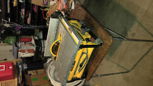 A DeWalt table saw