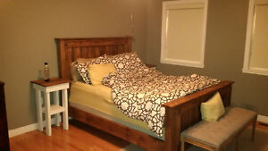 Bedframes and other rustic furniture custom built