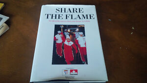 Book: Share The Flame, Olympic Torch Relay, 1988 Kitchener / Waterloo Kitchener Area image 1