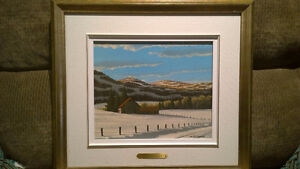 2 Bill Saunders paintings. 10x12,  framed 1981 West Island Greater Montréal image 1