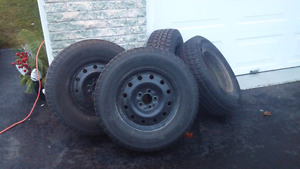 Winter Tires on steel rims.  235/70/16 off Ford Escape
