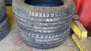 Pair of 2 Mirage MR182 225/55R17 tires (85% tread life)