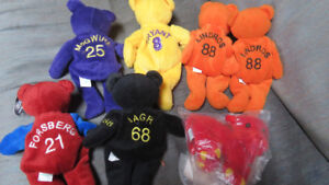 pro sports teddy bears and lion stuffies