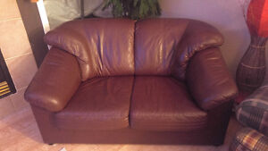 Selling: Leather Love Seat