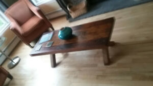 Rustic Coffee Table-Antique Wood