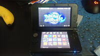 3DS XL with 3 Pokemon games and Street Fighter
