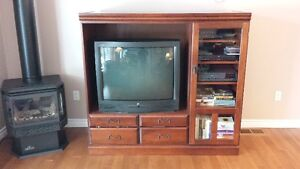 Solid Wood Entertainment Unit and Side Tables