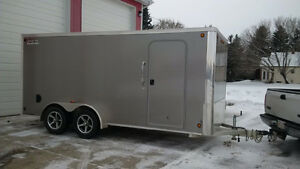 2014 Legend All Aluminum 7 x 16 Flat-Top Cargo Enclosed Trailer