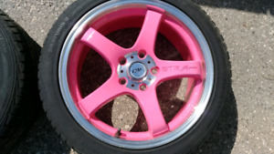 "4 17"" DAI COTTON CANDY (PINK) RIMS 5X114.3"
