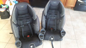 2 Identical Car Seats, later turn into Boosters Seats.. .80 each