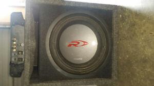 "Alpine type R 10"" and Kicker 500w amp"