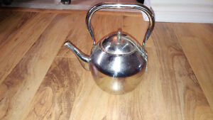 Stainless steel tea pot made in India, brought from Kuwait