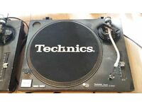Pair of Technics 1210's in full working order. SH DJ1200 mixer included (needs new fader)
