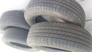 4/ MICHELIN M+ S TIRES 225/65/17, IN GOOD CONDITION