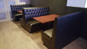 **TUFTED RESTAURANT BOOTHS AND BANQUETTES DOUBLES AND SINGLES
