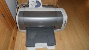 Imprimante HP couleur et CD d'installation + cable