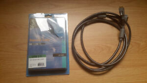 USB 2.0 High Speed Extension Cable + RCA DVI-D Pure Link Cable