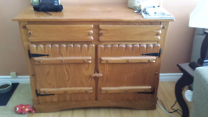 Wooden Dining Set with hutch