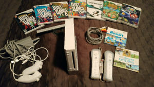 Nintendo Wii gaming console with games in great condition!!!
