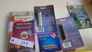 Aquarium fish food , plant anchors, thermometer Kitchener / Waterloo Kitchener Area image 1