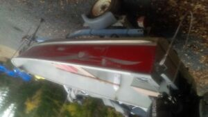 14' lund boat and 15 mercury