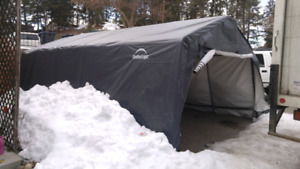 Outdoor car shelter 20×16×8 ft tall used for 3 months