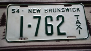 1954 TAXI LICENCE PLATE